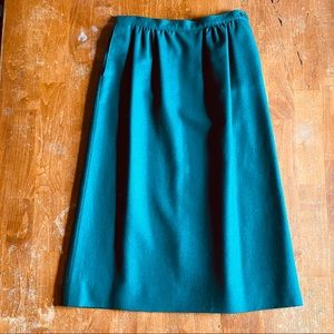 Pendleton green wool skirt size 8
